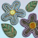 kenderfilc virágok zsinegekkel