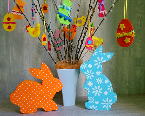 Húsvéti nyuszik és filcfigurák